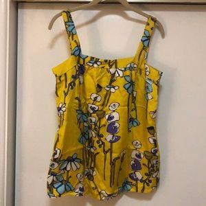 J.Crew Collection Campo di Fiori 100% silk blouse
